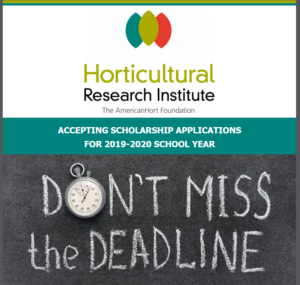 Horticultural Research Institute Scholarhip Announcement