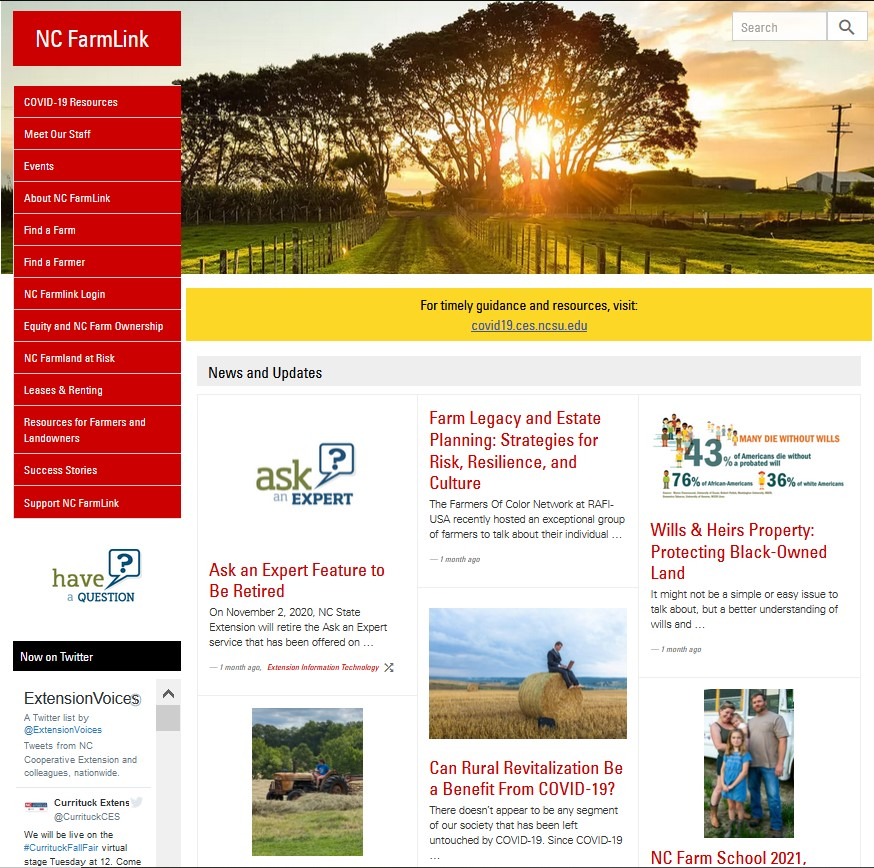 NC FarmLink website