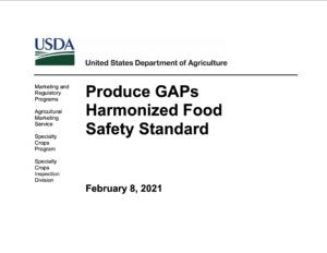 Cover photo for Updates to the USDA GAP Harmonized Audit Webinar